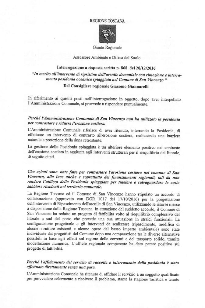 Risposta Regione Toscana pag.1